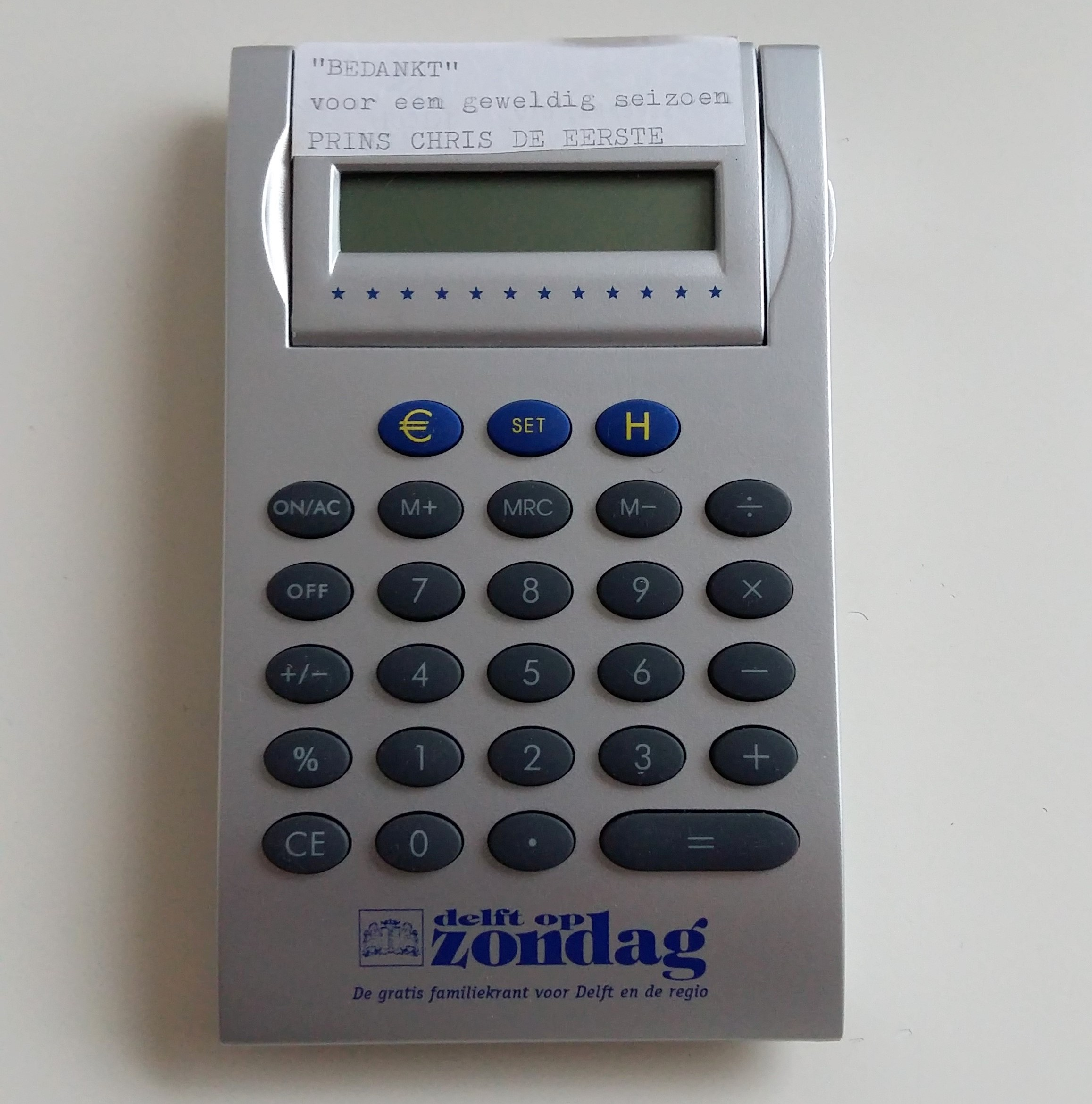 1999 2000 Prins Chris de 1e calculator
